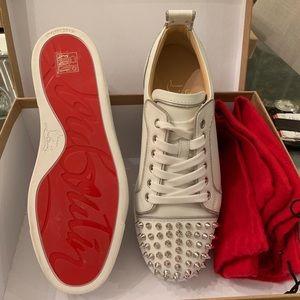 Christian Louboutin Shoes - ✨SOLD!!!✨CHRISTIAN LOUBOUTIN FLAT CALF ZIP SPIKES!